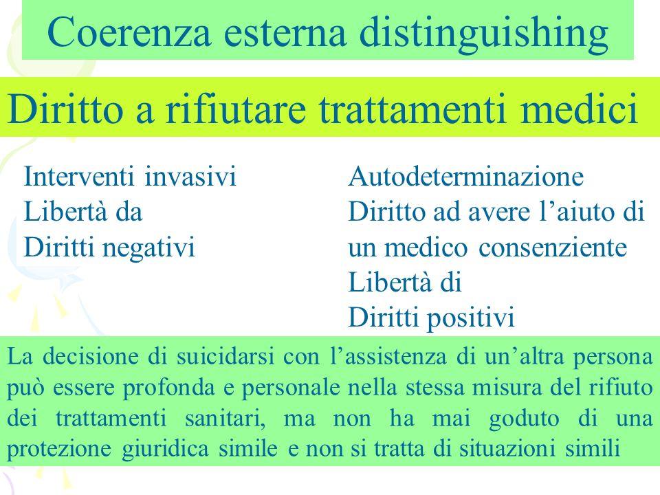 Coerenza esterna distinguishing