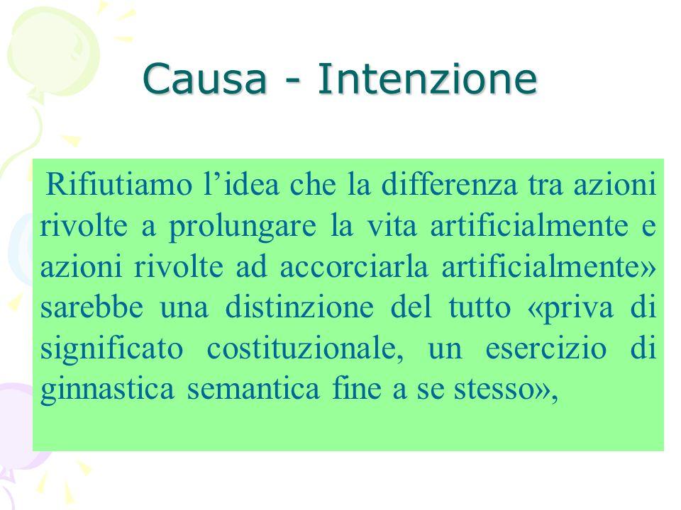 Causa - Intenzione