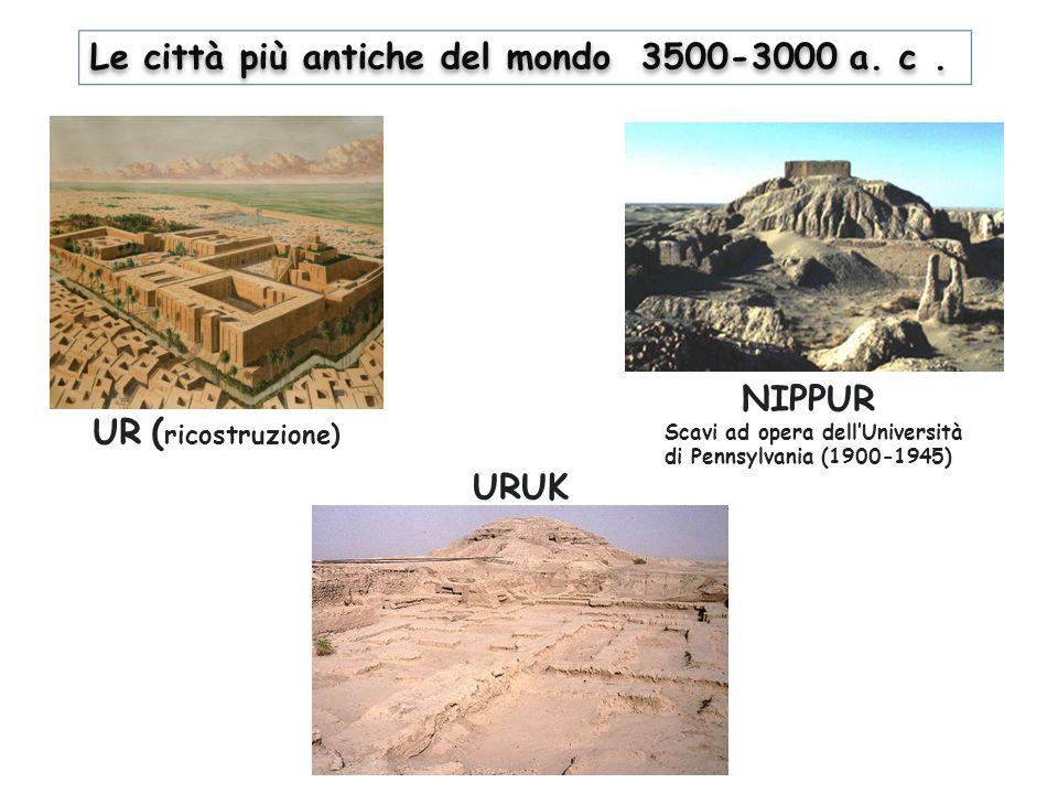 Le città più antiche del mondo 3500-3000 a. c .