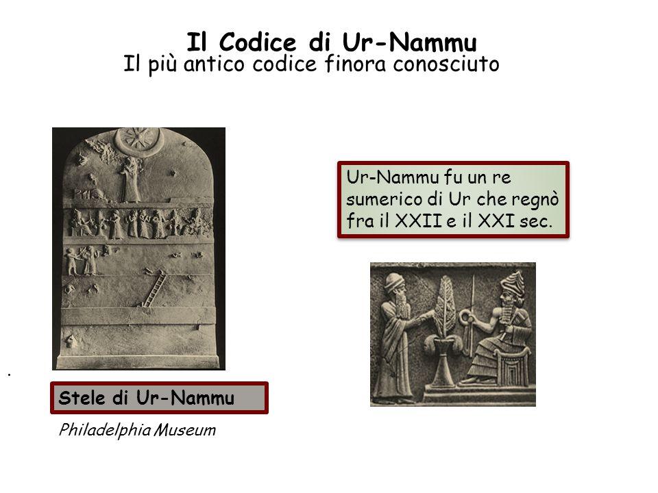 Il Codice di Ur-Nammu Il più antico codice finora conosciuto