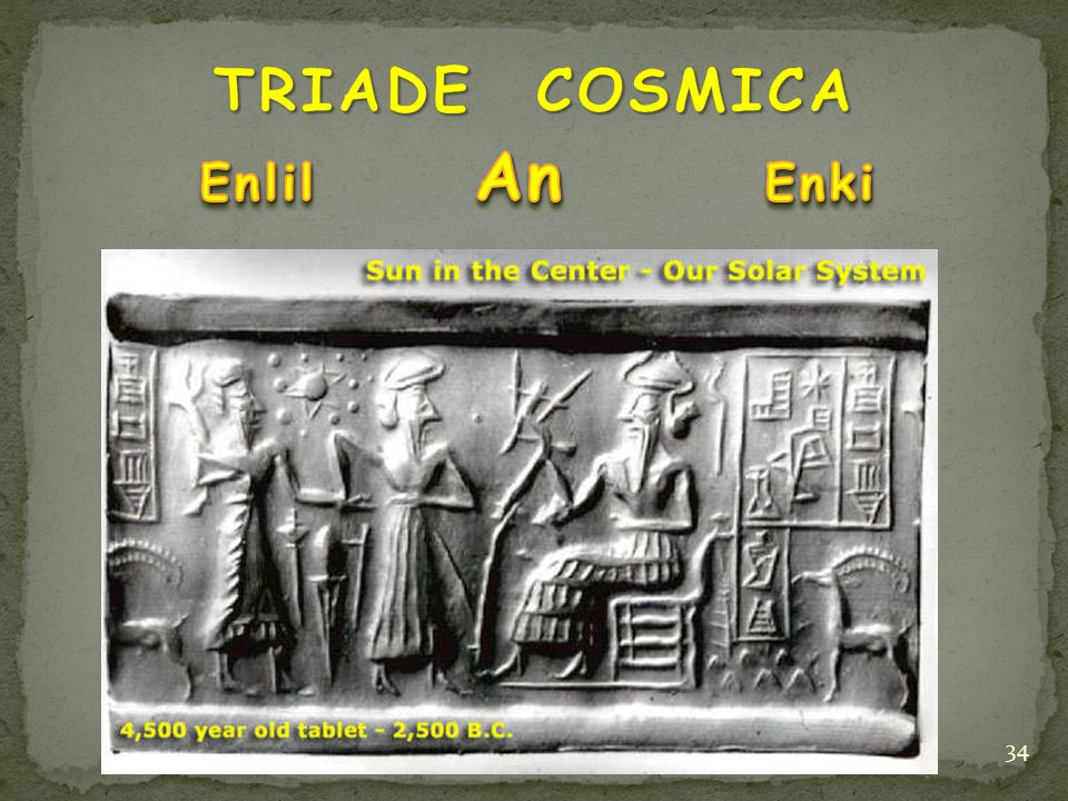 TRIADE COSMICA Enlil An Enki