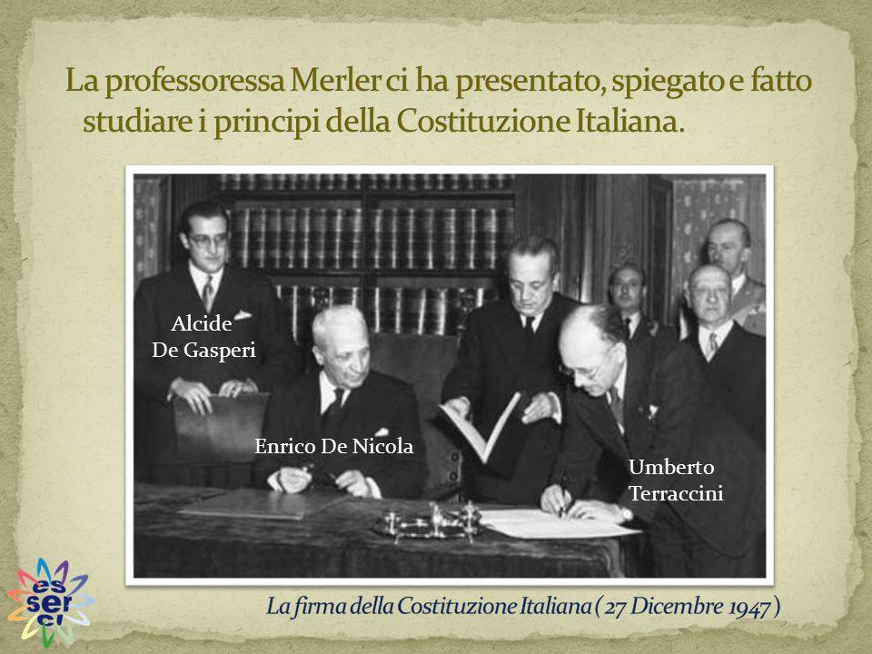 La firma della Costituzione Italiana ( 27 Dicembre 1947 )