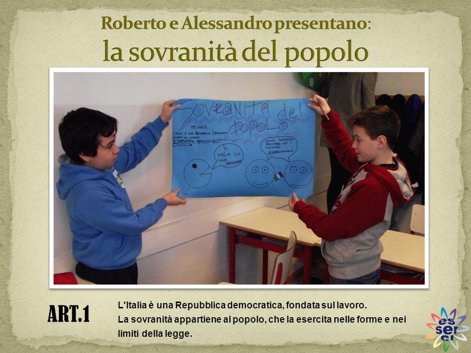Roberto e Alessandro presentano: la sovranità del popolo