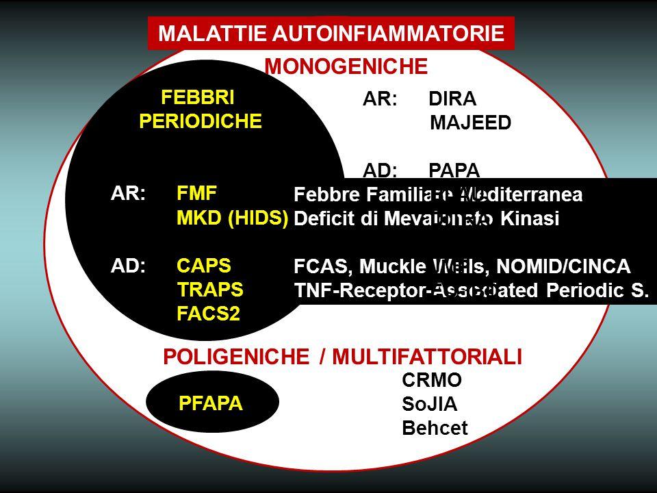 MALATTIE AUTOINFIAMMATORIE POLIGENICHE / MULTIFATTORIALI
