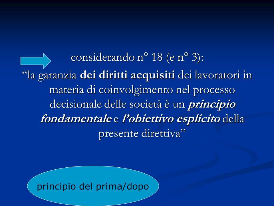 considerando n° 18 (e n° 3):