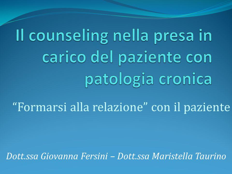 Il counseling nella presa in carico del paziente con patologia cronica