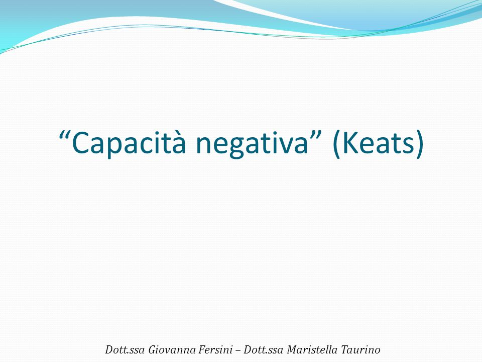 Capacità negativa (Keats)