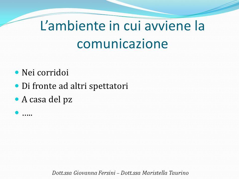 L'ambiente in cui avviene la comunicazione