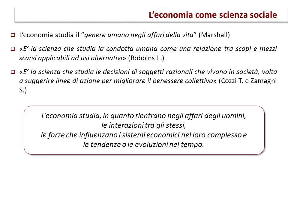 L'economia come scienza sociale