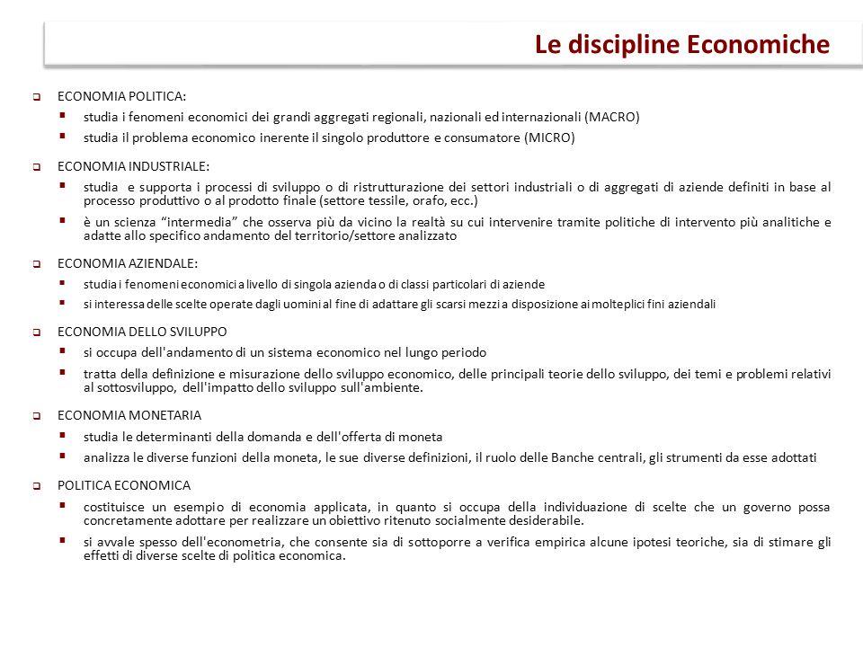 Le discipline Economiche