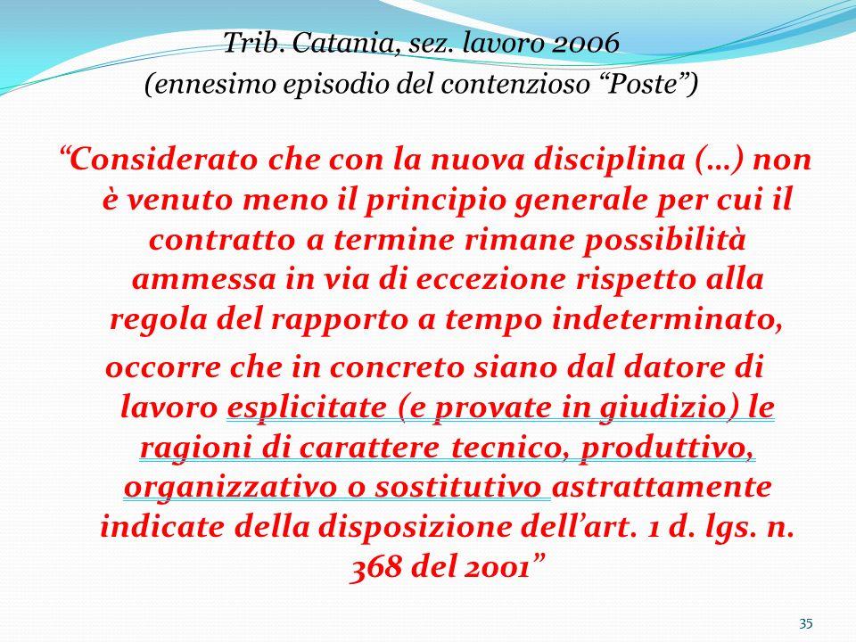 Trib. Catania, sez. lavoro 2006