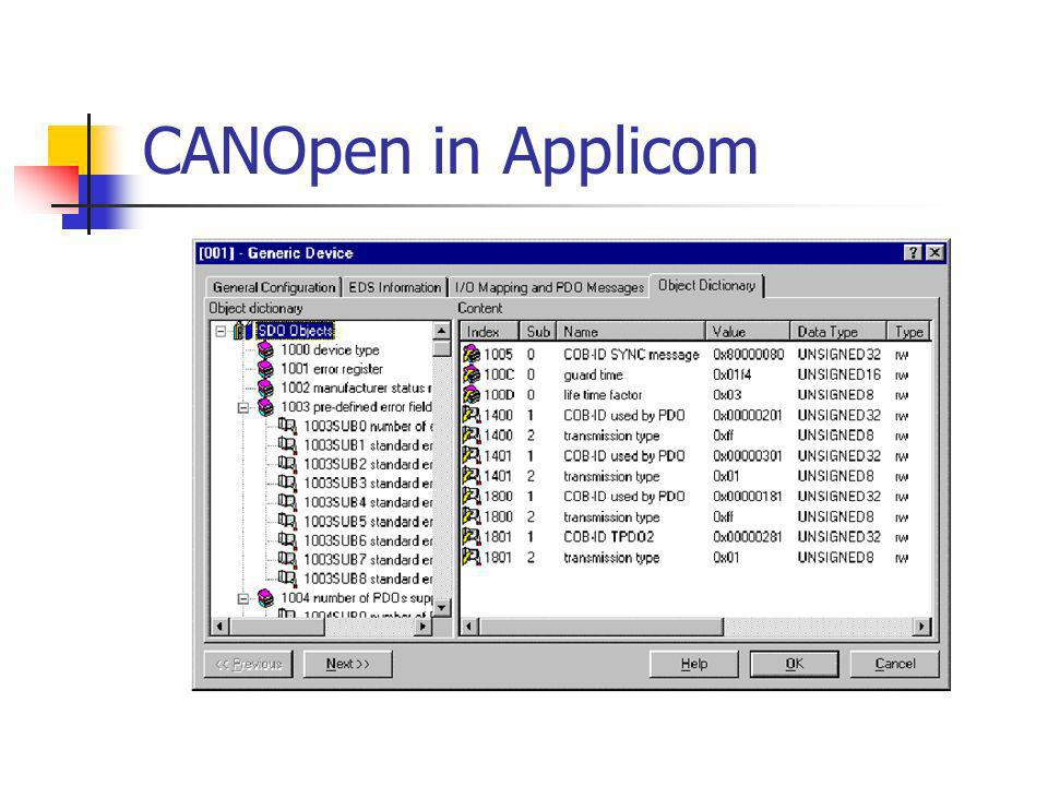CANOpen in Applicom