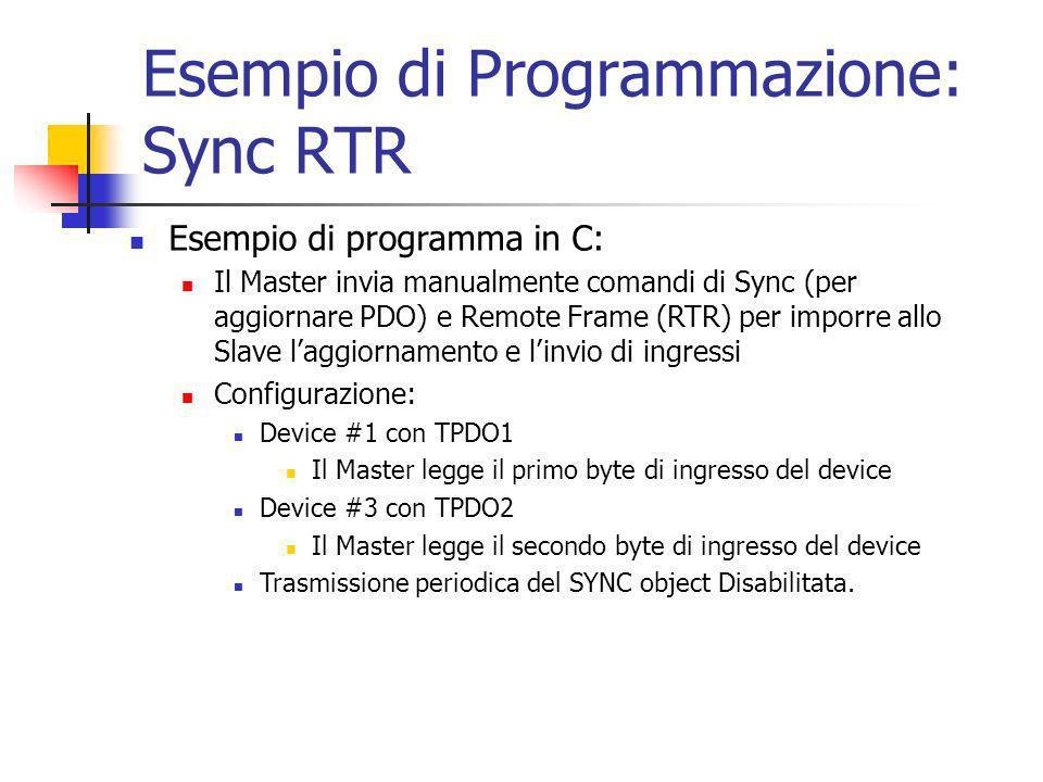 Esempio di Programmazione: Sync RTR