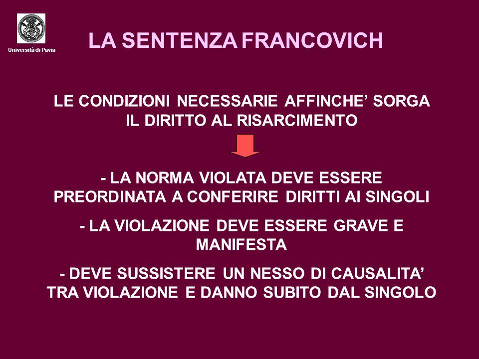 LA SENTENZA FRANCOVICH