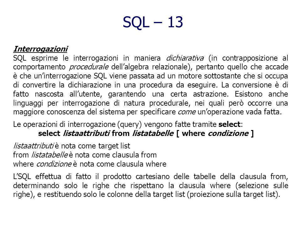 SQL – 13 Interrogazioni.