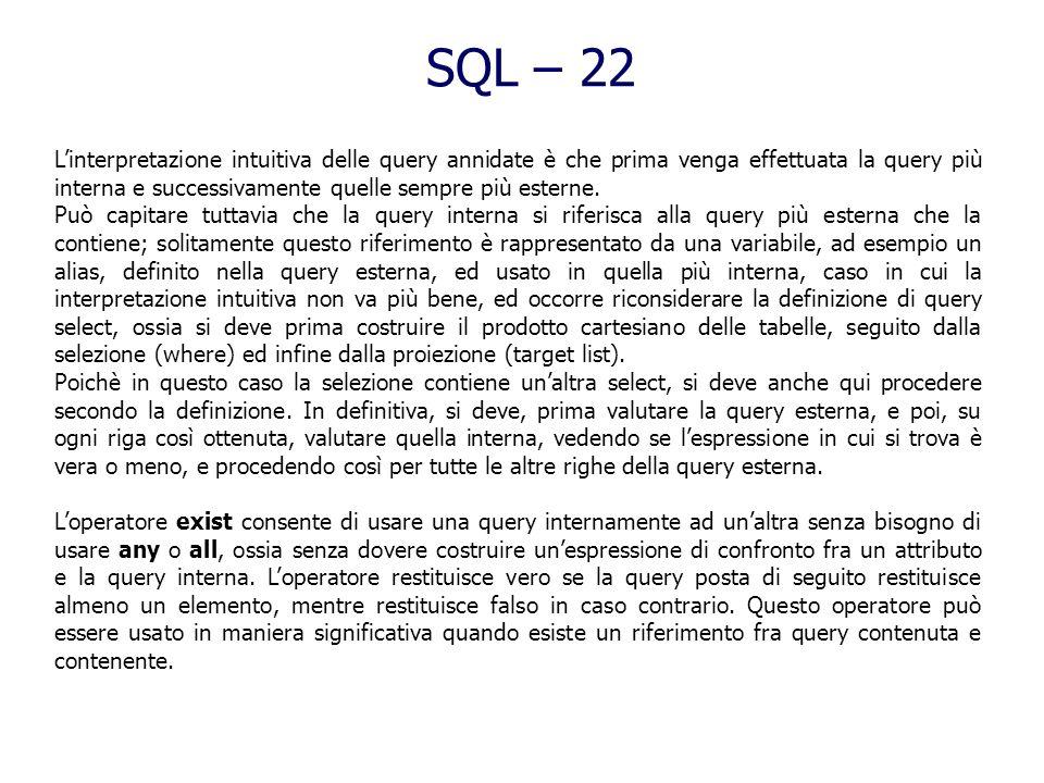 SQL – 22