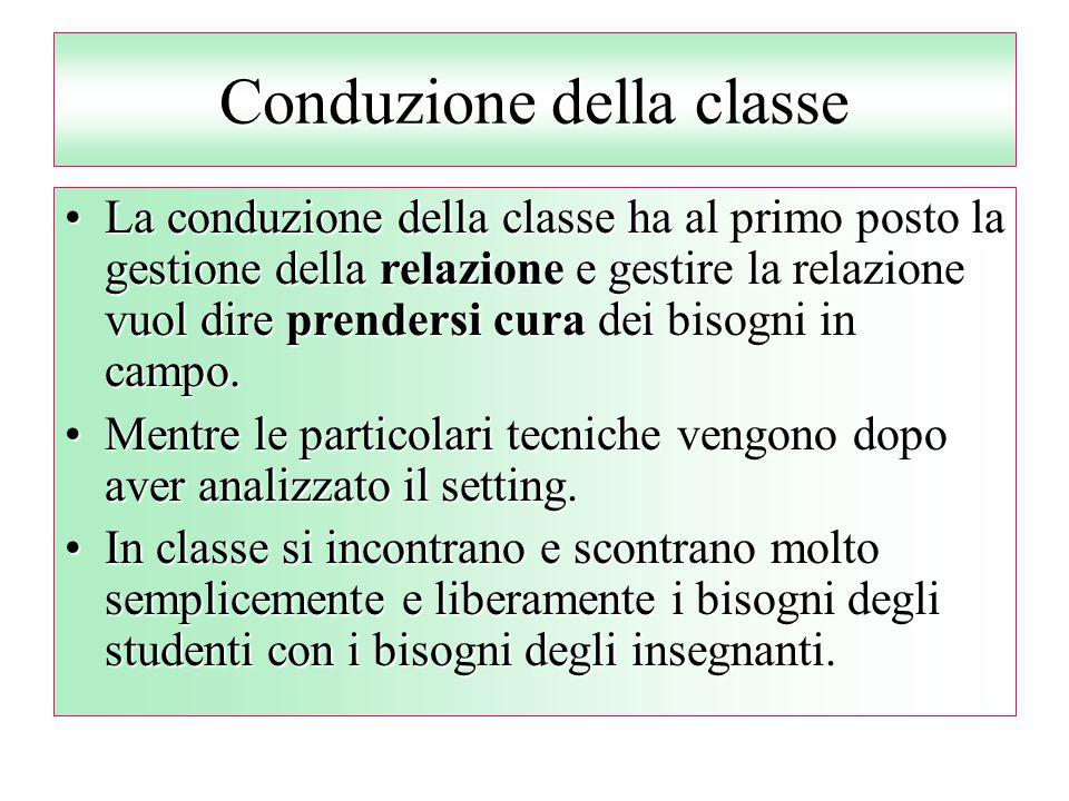 Conduzione della classe