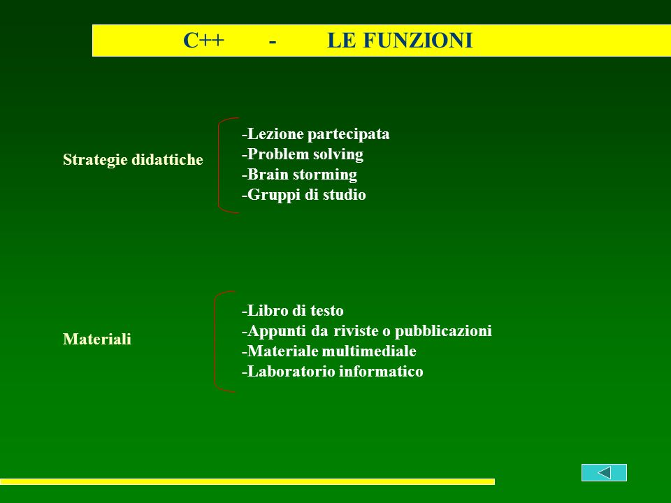 C++ - LE FUNZIONI -Lezione partecipata -Problem solving