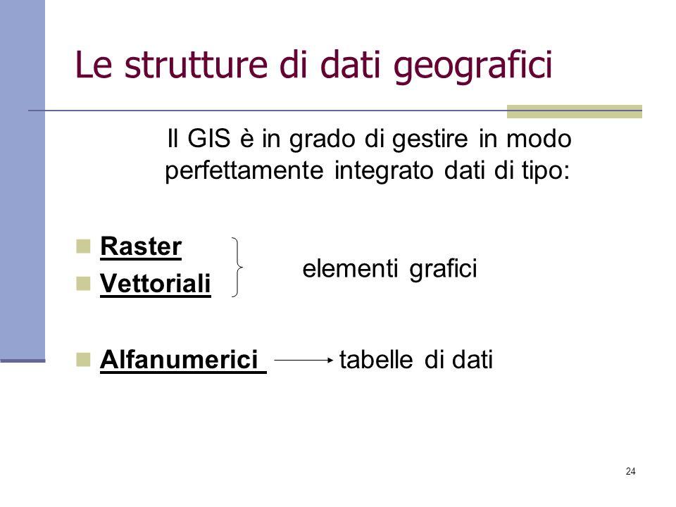 Le strutture di dati geografici
