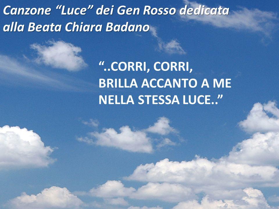 Canzone Luce dei Gen Rosso dedicata alla Beata Chiara Badano