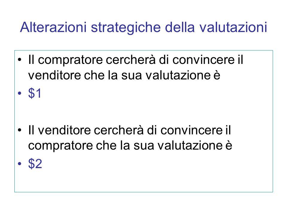 Alterazioni strategiche della valutazioni