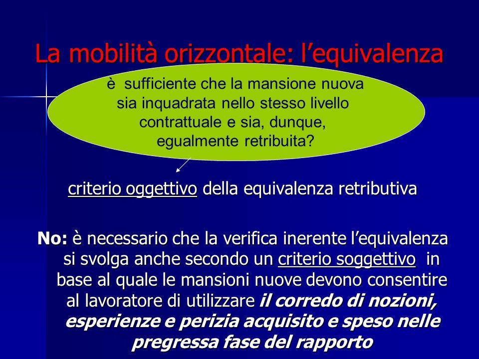 La mobilità orizzontale: l'equivalenza