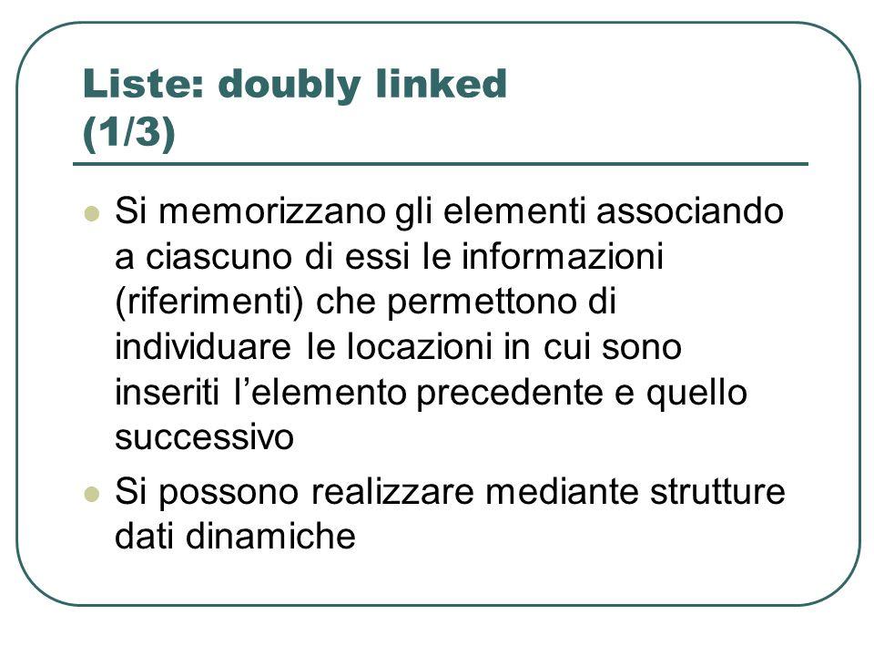 Liste: doubly linked (1/3)