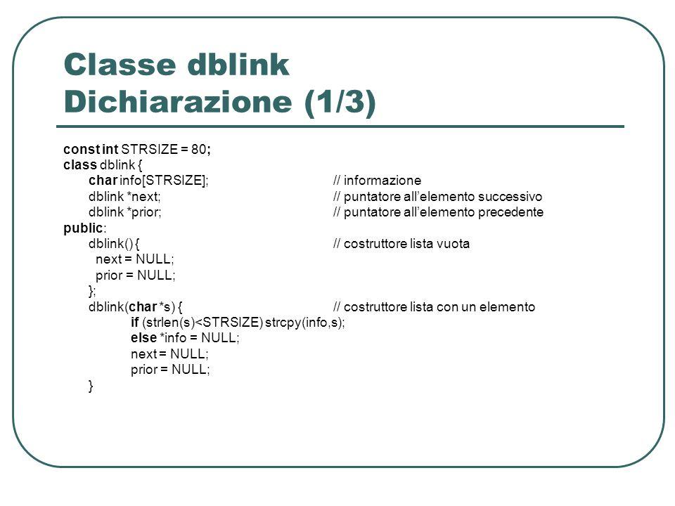 Classe dblink Dichiarazione (1/3)