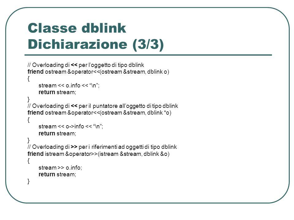 Classe dblink Dichiarazione (3/3)
