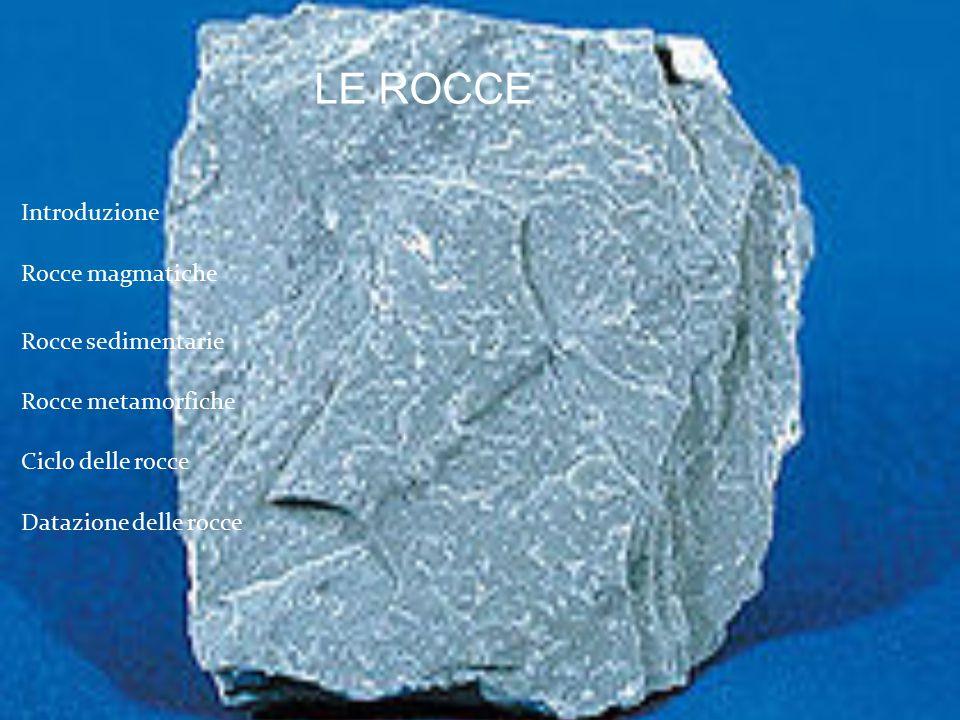 LE ROCCE Introduzione Rocce magmatiche Rocce sedimentarie