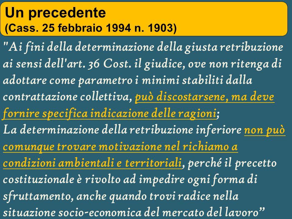 Un precedente (Cass. 25 febbraio 1994 n. 1903)