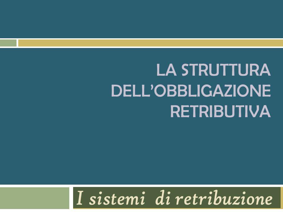 La struttura dell'obbligazione retributiva
