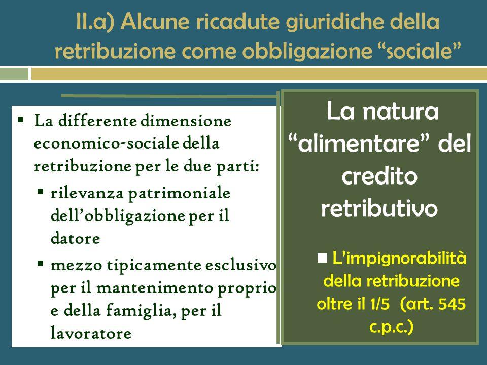 La natura alimentare del credito retributivo