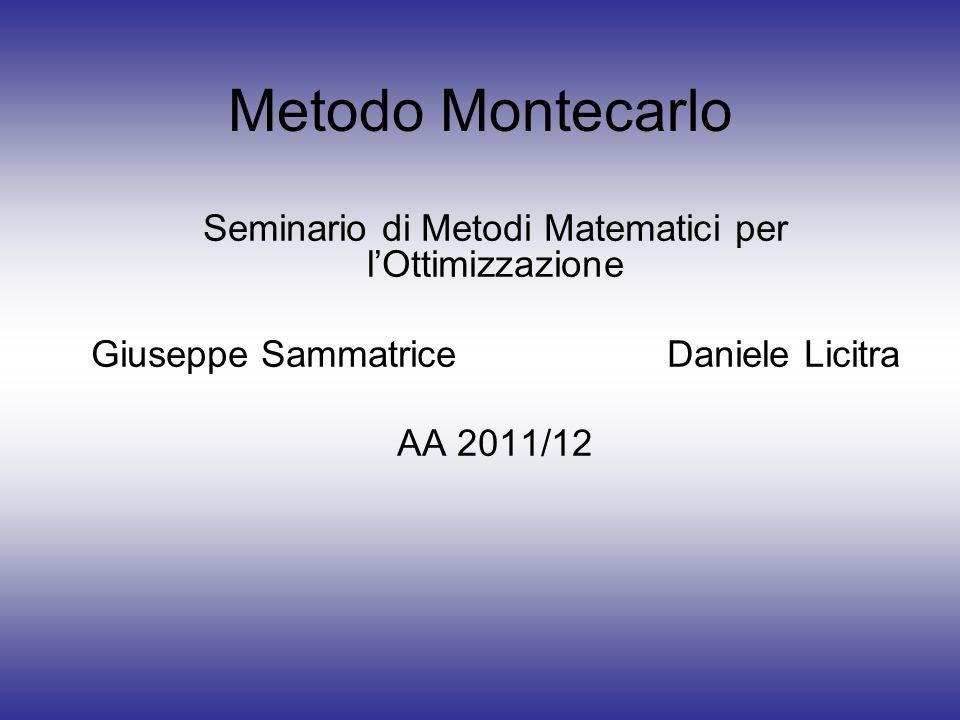 Metodo Montecarlo Seminario di Metodi Matematici per l'Ottimizzazione