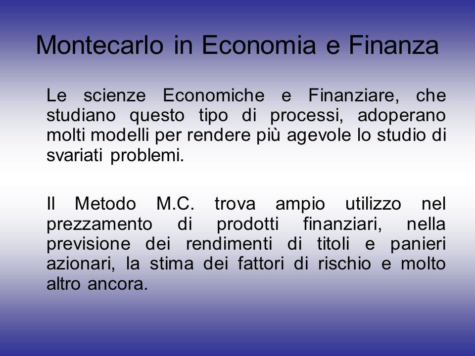 Montecarlo in Economia e Finanza