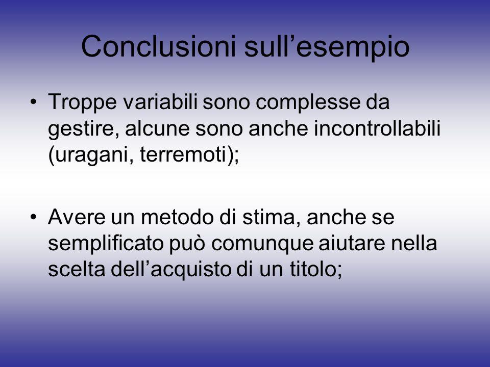 Conclusioni sull'esempio