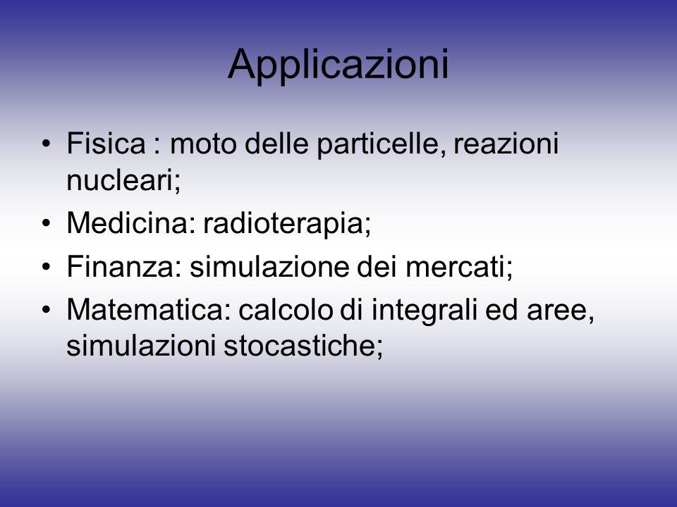 Applicazioni Fisica : moto delle particelle, reazioni nucleari;