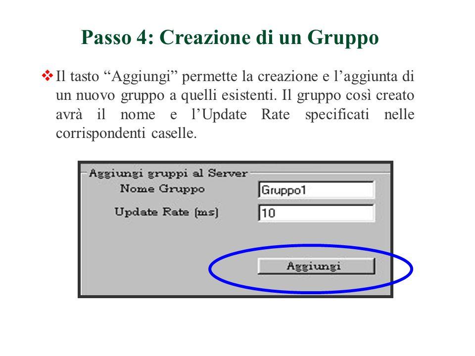 Passo 4: Creazione di un Gruppo