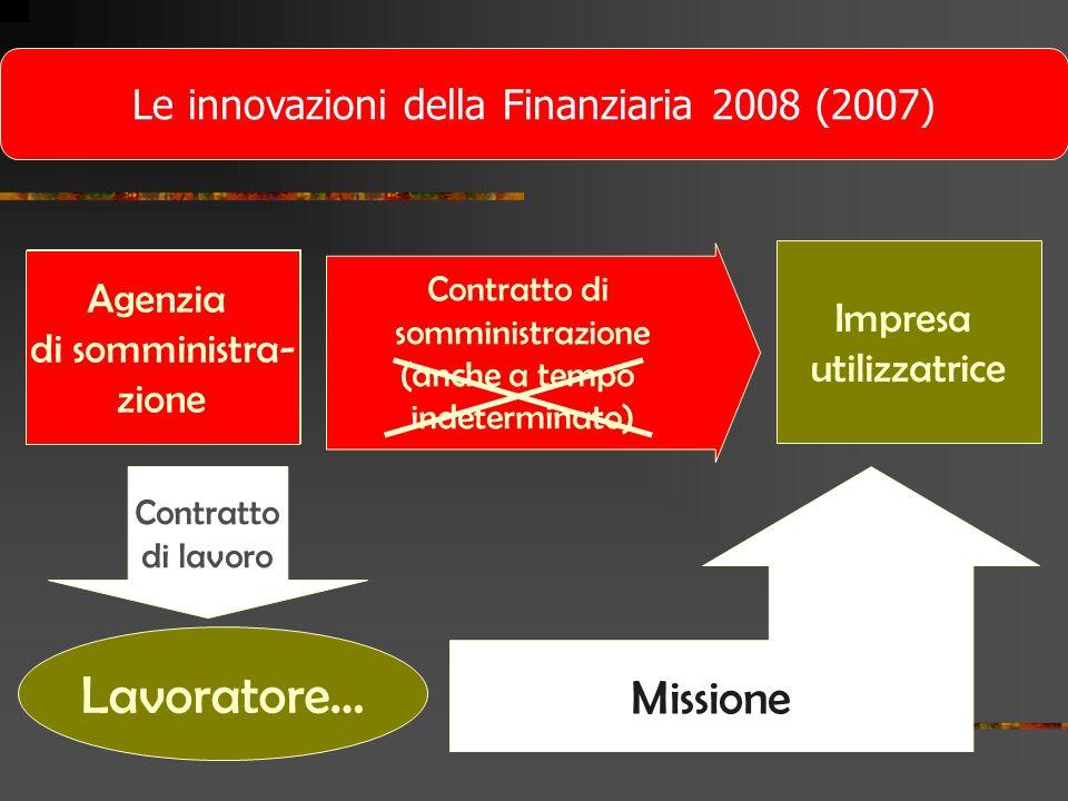 Le innovazioni della Finanziaria 2008 (2007)