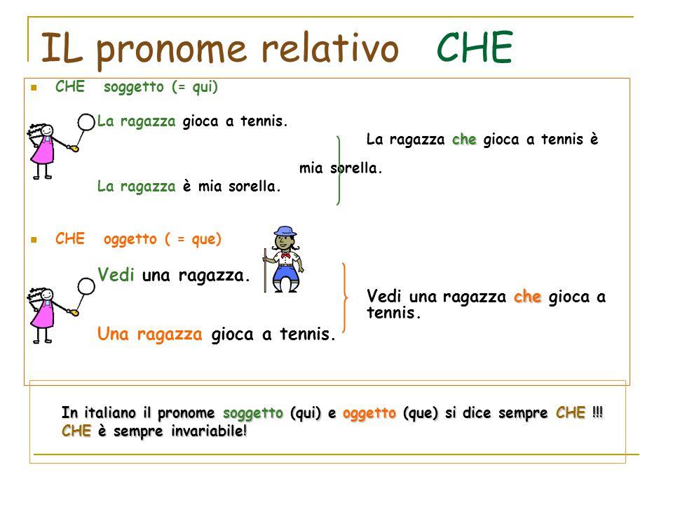 IL pronome relativo CHE