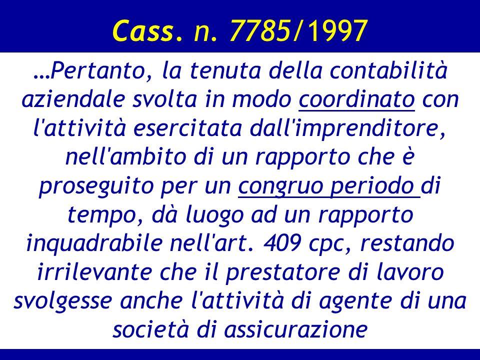 Cass. n. 7785/1997