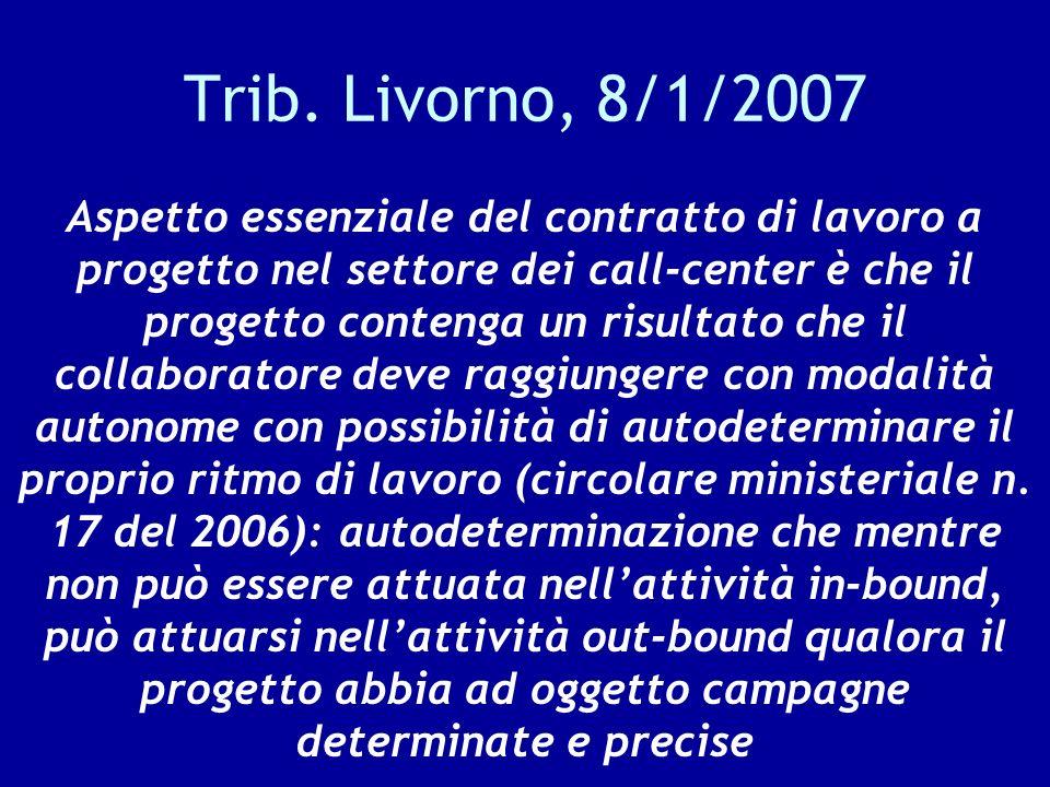 Trib. Livorno, 8/1/2007