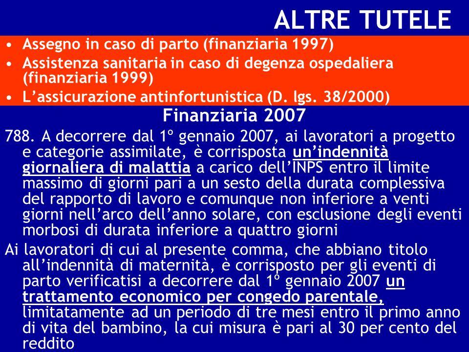 ALTRE TUTELE Finanziaria 2007