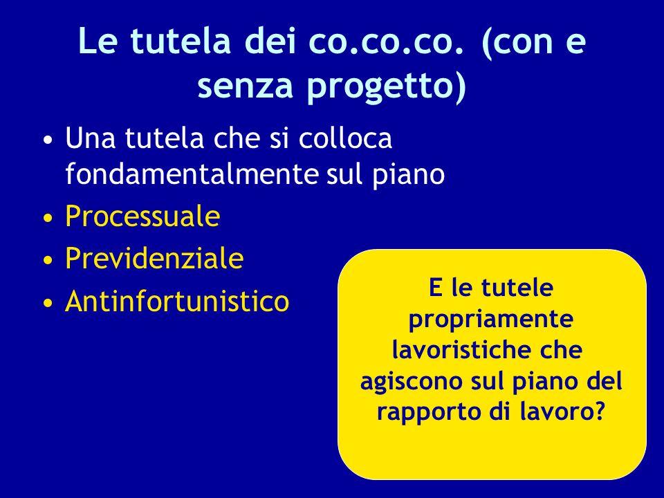 Le tutela dei co.co.co. (con e senza progetto)