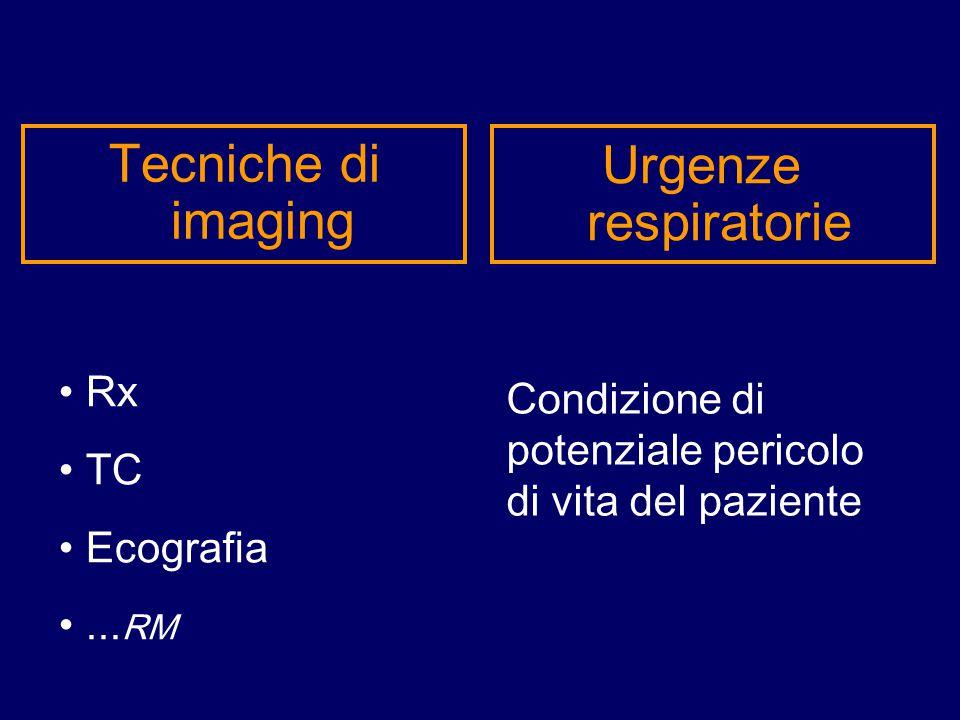 Tecniche di imaging Urgenze respiratorie Rx