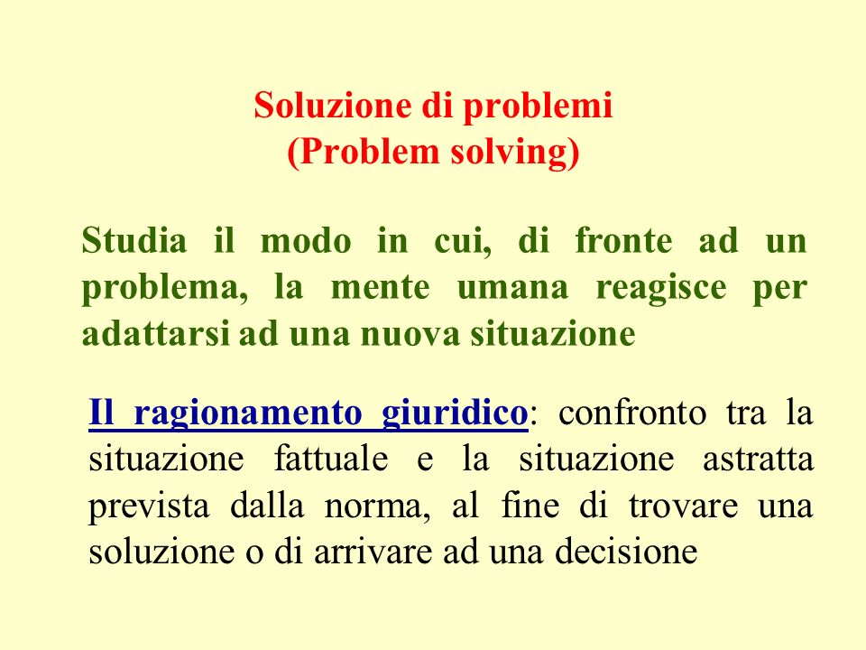 Soluzione di problemi (Problem solving)