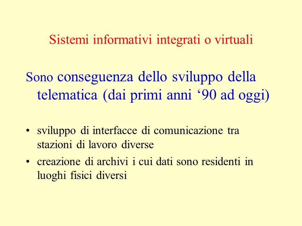 Sistemi informativi integrati o virtuali