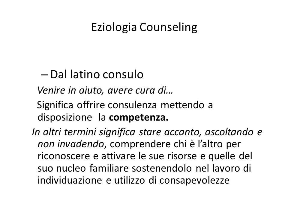 Eziologia Counseling Dal latino consulo