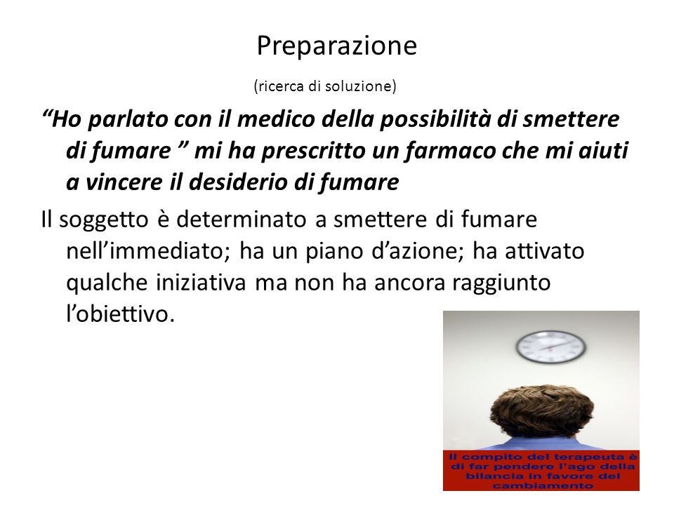 Preparazione (ricerca di soluzione)