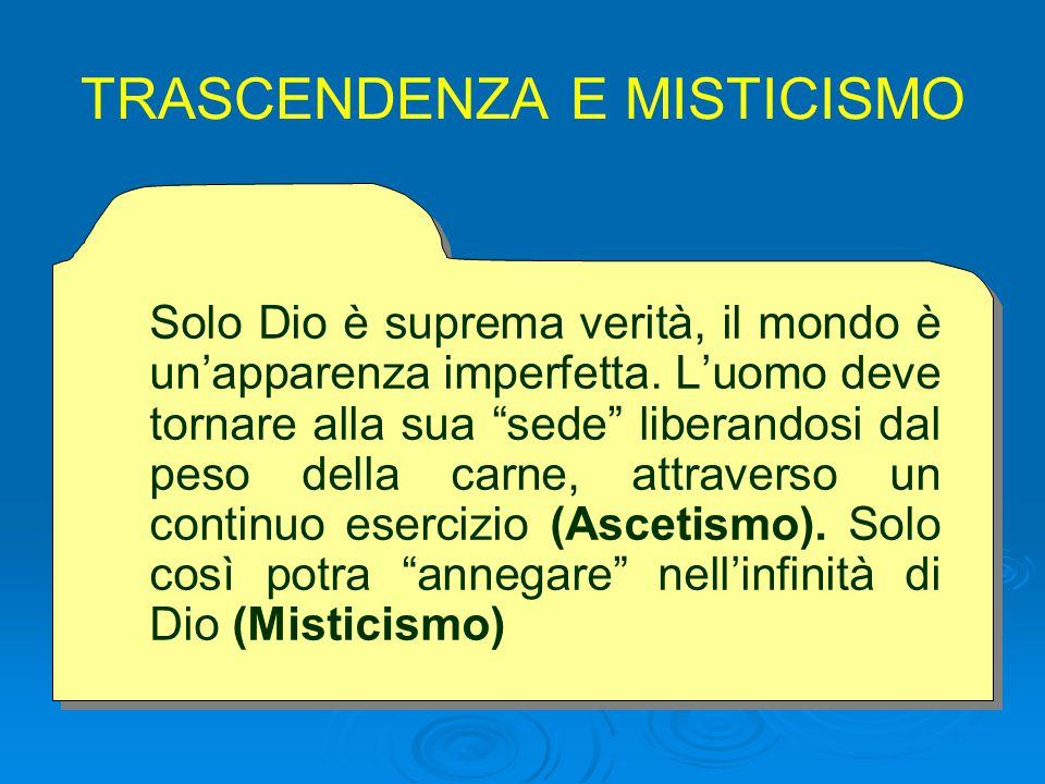 TRASCENDENZA E MISTICISMO